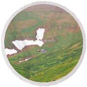 Aerial View Of Alaskan Landscape Round Beach Towel