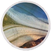 Aerial  View Of An Antarctica Glacier Flow Round Beach Towel