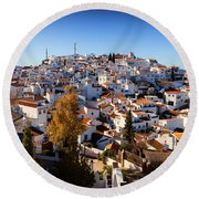 Aerial View Of Comares Village, One Round Beach Towel