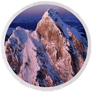 Aerial View Of The Grand Teton Round Beach Towel