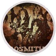 Aerosmith - Back In The Saddle Round Beach Towel