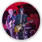Aerosmith-joe Perry-00019-1 Round Beach Towel
