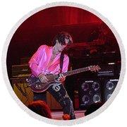 Aerosmith-joe Perry-00151 Round Beach Towel