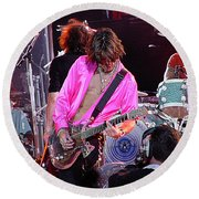 Aerosmith - Joe Perry -dsc00121 Round Beach Towel