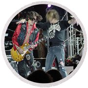 Aerosmith - Joe Perry -dsc00182-2-1 Round Beach Towel