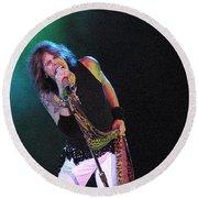 Aerosmith - Steven Tyler -dsc00139-1 Round Beach Towel