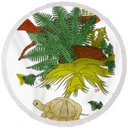 Aesop: Tortoise & The Hare Round Beach Towel
