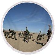 Afghan National Army Commandos Round Beach Towel