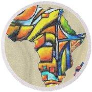 Africa 2 Round Beach Towel
