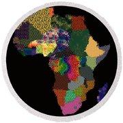 Africa Round Beach Towel