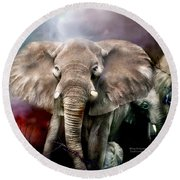 Africa - Protection Round Beach Towel