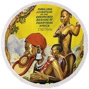Africa Speaks Round Beach Towel