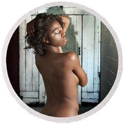 Chynna African American Nude Girl In Sexy Sensual Photograph And In Color 4788.02 Round Beach Towel