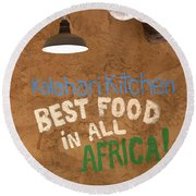 African Food Round Beach Towel