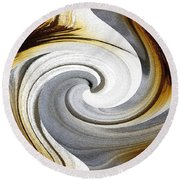 African Moon Twirls Round Beach Towel