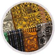African Prints Round Beach Towel