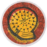 African Shell Pattern Round Beach Towel