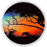 African Skies Round Beach Towel