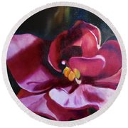 African Violet In The Light Round Beach Towel