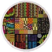 Afroecletic I Round Beach Towel