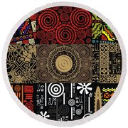 Afroecletic II Round Beach Towel