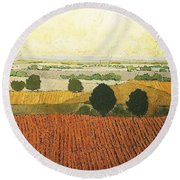 After Harvest Round Beach Towel