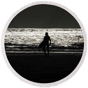 After Hours Round Beach Towel