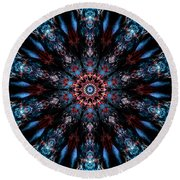 After Midnight Round Beach Towel