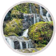 After The Rain Round Beach Towel by Victor Culpepper