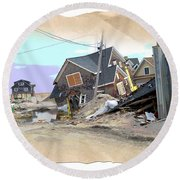 After The Storm 3 Round Beach Towel