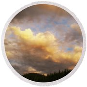 After The Storm -  Lake Arrowhead Round Beach Towel