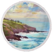 After The Storm Maui Round Beach Towel