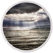 After The Storm Sea Of Galilee Israel Round Beach Towel