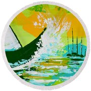 After The Wake Round Beach Towel