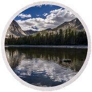 Afternoon At Dorothy Lake Round Beach Towel