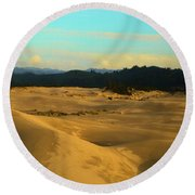 Afternoon At Oregon Dunes Round Beach Towel