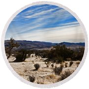 Afternoon At Red Rock Round Beach Towel