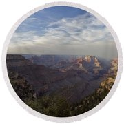 Afternoon At The Canyon Round Beach Towel