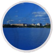Afternoon At The Tidal Basin Round Beach Towel