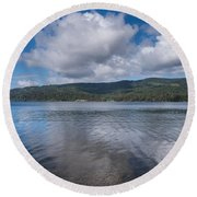 Afternoon Clouds Over Big Lagoon Round Beach Towel