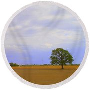 Afternoon In The Country Round Beach Towel