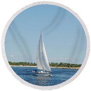 Afternoon On The Bay Round Beach Towel