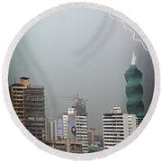 Afternoon Storm Round Beach Towel