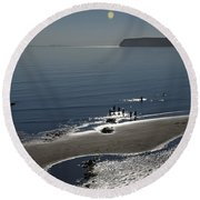 Against The Light - Compton Bay Round Beach Towel