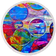 Against The Rain Vertical Round Beach Towel