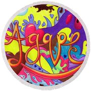 Agape Round Beach Towel