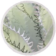 Agave Abstract Round Beach Towel