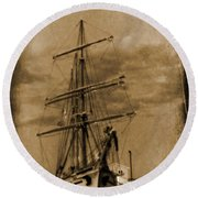 Age Of Sail Poster Round Beach Towel by John Malone Halifax photographer