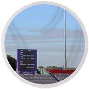 Ageas Bowl Score Board And Floodlights Southampton Round Beach Towel
