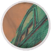 Aged Copper Theater Round Beach Towel